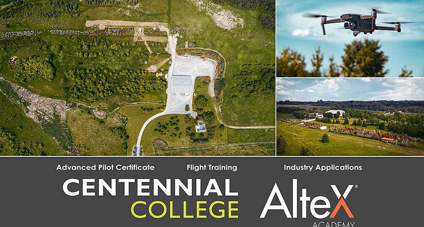 AlteX Centennial Drone Training Banner