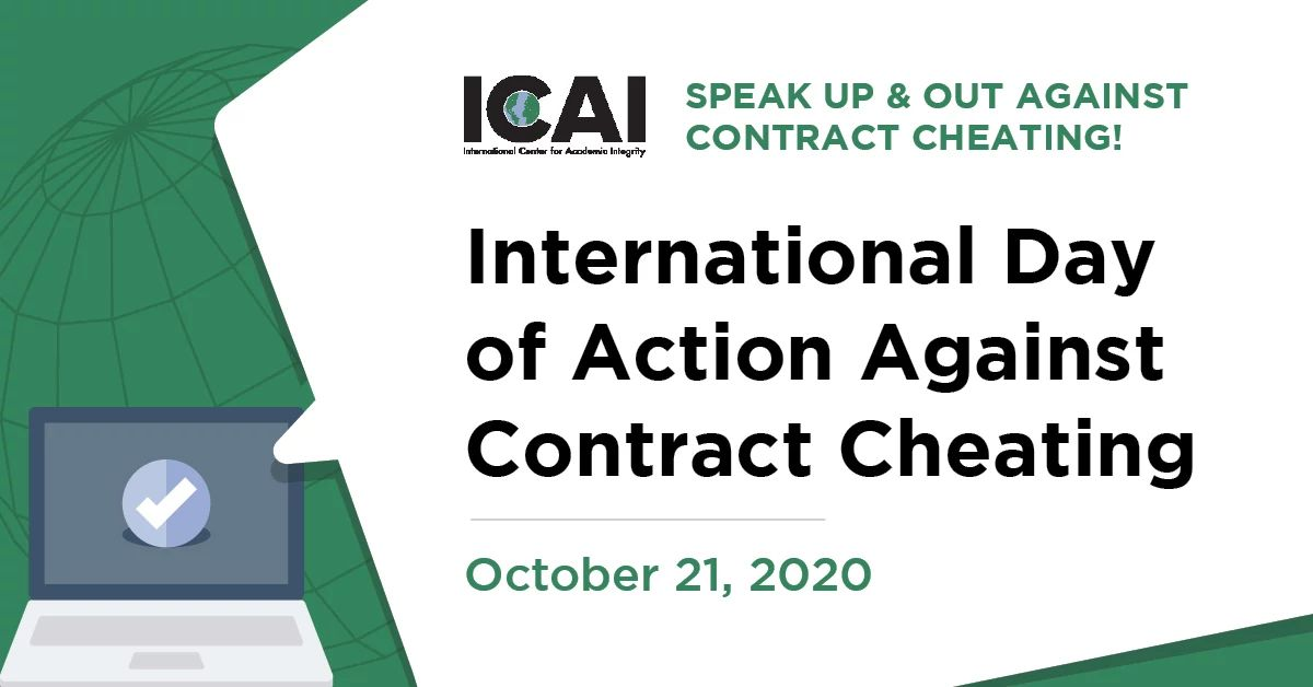International Day of Action Against Contract Cheating Poster