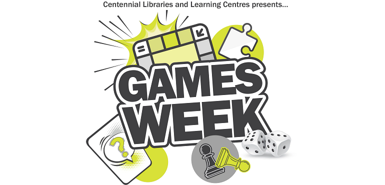 Games Week with game icons around the title