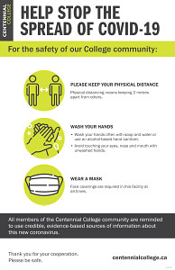 Poster about how you can help stop the spread of COVID-19