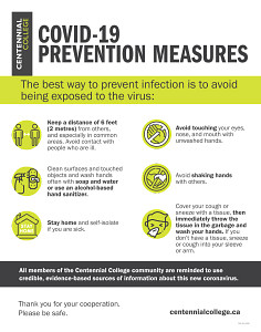 Poster about COVID-19 Prevention Measures